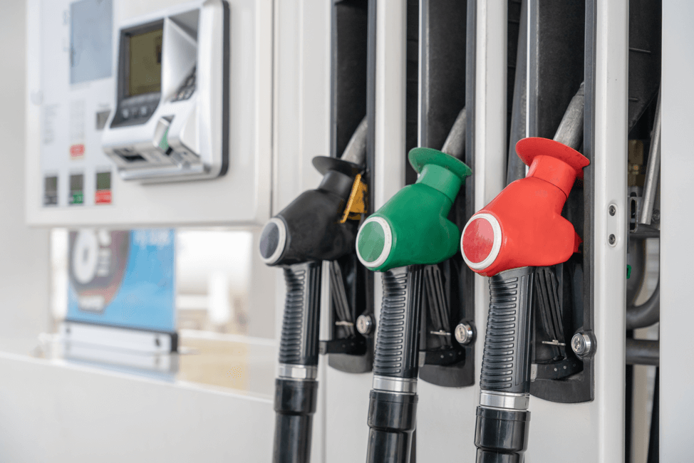 Gas-pumps-at-gas-station