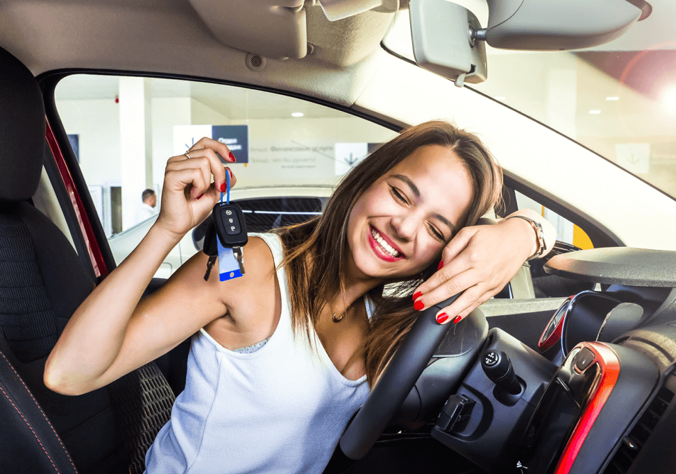 girl-new-car