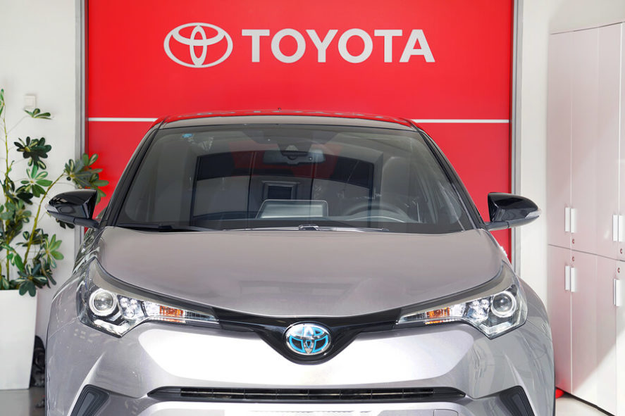 Toyota-Hybrid-Car-In-The-Store